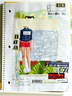 great notebook paper journal  by julie kirk