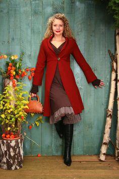 Unentbehrlich von Herbst bis Frühjahr: Romantischer Gehrock in Herbstfarbe.   *Angeboten werden die Größen 36 bis 42 gemäß der Maßtabelle in meinen Shop-FAQ'S. Habt Ihr abweichende Maße? Dann...