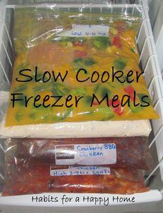 Slow Cooker Freezer Meals by Heidi www.habitsforahappyhome.com
