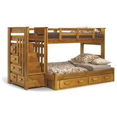 Chelsea Home Chelsea Home Twin over Full Standard Bunk Bed with Stairway Chest and Underbed Storage