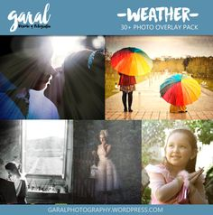 WEATHER Photoshop Overlays JPG files pack for by marcegaral