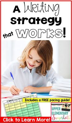 If you are looking for an effective writing approach with lessons planned out for you throughout the year, this is a must read!  This writing coach shows you a writing strategy that truly WORKS and she is getting praise by thousands of teachers!  You will find a step-by-step approach that has mini lessons in an order designed so each lesson builds upon the previous one.  Plus she has a download for an editable pacing guide!  Click to learn more!
