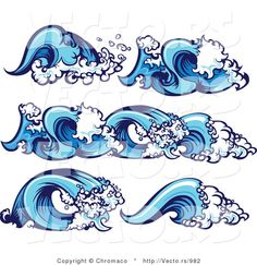 how to draw cartoon waves