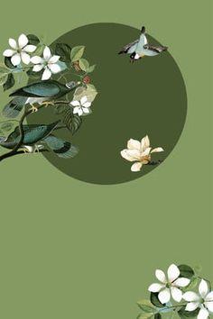 Flower Background Images, Flower Backgrounds, Art Background, Art And Illustration, Botanical Illustration, Chinese Style, Chinese Art, Chinese Painting, Asian Art