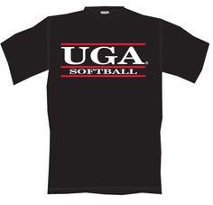 f1c598107 UGA Bar Softball T-Shirt - Black