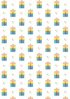 FREE printable birthday pattern paper | #tinygiftbox