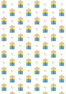 FREE printable birthday pattern paper | #tinygiftbox