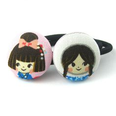 Little Girl Covered Button Ponytail Holders  by MelissaAbram, $5.25