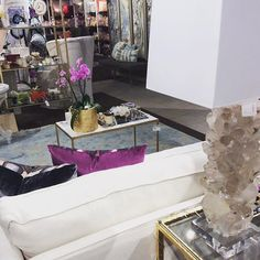 Times Two Design in the In-Detail Showroom ste 500 at Dallas Market. #indetailshowroom #austindesign #dallasmarket #geodes #design #designaustin