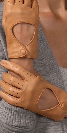 style | accessories - these leather gloves