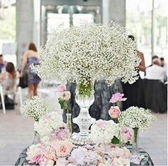 Best Wedding Reception Decoration Supplies - My Savvy Wedding Decor Spring Wedding Centerpieces, Elegant Centerpieces, Flower Centerpieces, Wedding Decorations, Centerpiece Ideas, Tall Centerpiece, Mod Wedding, Elegant Wedding, Dream Wedding