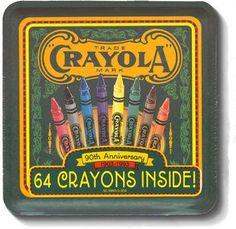Looks vintage Crayola Crayola, Vintage School, School Supplies, Art Supplies, Vintage Tins, Wax Paper, Metal Tins, Tin Boxes, Looks Vintage
