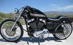 1998 Harley Bobber with 1200cc Sportster Evo Engine.