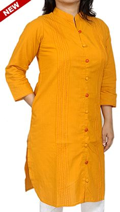Turmeric Yellow Corporate Kurta for Working Women