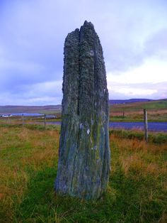 Clivocast Stone or Uyea Breck Location : Unst, Shetland Isles. drive down the Muness Road. This stone is said to mark the spot where the son of Viking Harald Harfager was killed in 900 AD.