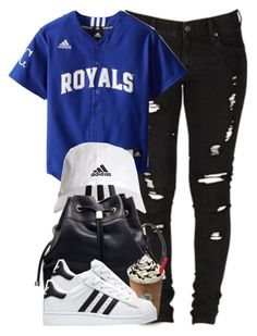 """Royal x Adidas"" by cheerstostyle ❤ liked on Polyvore featuring Levi's and adidas"
