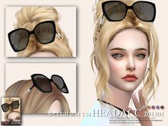 Head accessoires, glasses, 5 swatches, for girls, hope you like, thanks.  Found in TSR Category 'Sims 4 Female Hats'