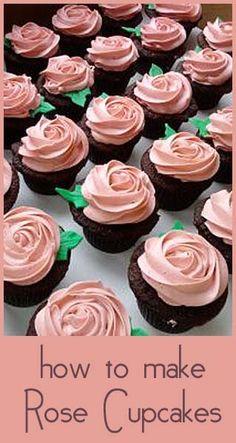 How to make Rose cupcakes - #diy