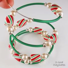 It is that time of year again to pull out our supply of candy cane beads and make some more jewelry. We made a huge supply of beads last ye...