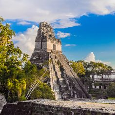 Tikal Temple I -  Tikal is the #ruins of an ancient city of the Maya in the rain forests of the Petén in northern #Guatemala.