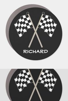 Personalized Checkered Flag Racing Sports 2 Car Magnet fathers day gifts from, gifts to dad, kids birthday gifts for dad #bosschick #staytraining #veganstrong