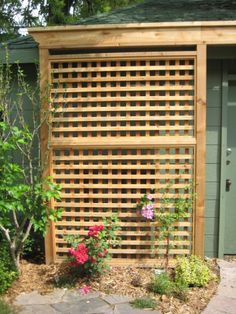 trellis - might be nice on the west side of the patio!