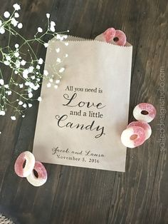 All you need is love and a little candy by SALTEDDesignStudio Wedding Gifts For Guests & 103 Best Wedding- GUEST GIFTS images | Wedding giveaways Wedding ...