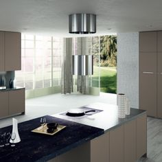 Valencia. Open Collection. Colour touches for creative geometry. Design by R&D Center. #kitchen #design #details
