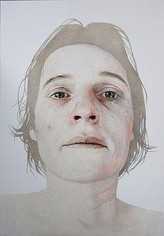 Beyond grief II ' Self Portrait XII' by Annemarie Busschers - 160 x120 cm 2011, Private Collection, Switzerland.