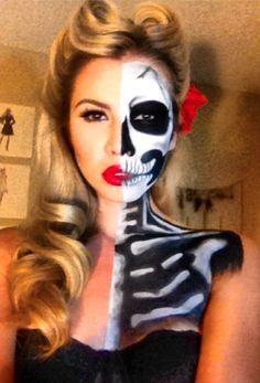 pretty halloween makeup ideas for women - Google Search