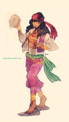 My version of Male!Esmeralda… I know, it's so different from the most famous genderbend of her xD