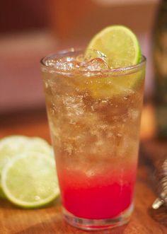 Floradora Cocktail - raspberry and lime for a refreshing drink http://thegardeningcook.com/floradora/