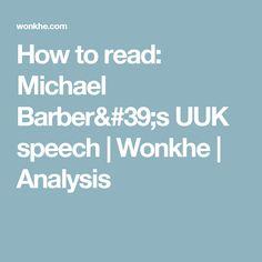 How to read: Michael Barber's UUK speech   Wonkhe   Analysis