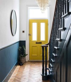 Imperfect interiors beth dadswell interior garden designer dulwich living hallway beth dadswell designer dulwich garden hallway imperfect interior interiors living 55 scandinavian hallway to work on today Interior Garden, Interior Exterior, Home Interior Design, Interior Design Yellow, Hall Interior, Color Interior, Interior Stairs, Luxury Interior, Front Stairs