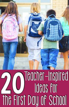 Teachers are going back to school soon! Here are 20 teacher-inspired ideas for the first day of school that will inspire your elementary students. Beginning Of The School Year, The New School, New School Year, School Fun, First Day Of School, School Ideas, School Starts, High School, Back To School Hacks