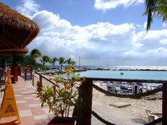 View of Papagayo restaurant on the Private Island Aruba
