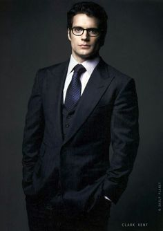 Henry Cavill looking good in a suit and glasses. #Superman2013