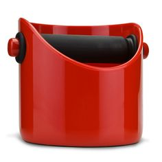 The Grindenstein Espresso Coffee Knock Box in Red by Dreamfarm is a must have kitchen accessory for coffee lovers. A Compact, strong, functional and super cool coffee grinds container. Best Espresso, Espresso Coffee, Design Shop, Nespresso, Coffee Knock Box, Pots, Space Saving Storage, Drip Tray, Steel Bar