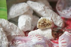 Deep South Dish: Mama's Pecan Finger Cookies, Crescents and Snowball Cookies