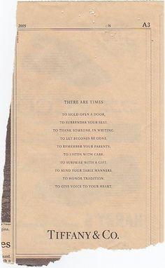 Well-said... Tiffany & Co. is so classy :)
