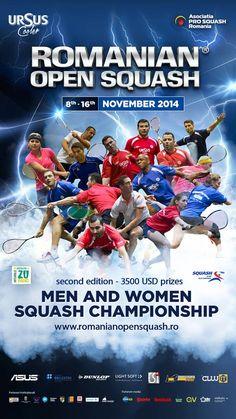 Au inceput inscrierile la Ursus Cooler Romanian Open Squash!