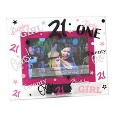 21 Pink Photo Frame. Only $29.95! #photo #frame #birthday #party #present      Shop at: http://stores.ebay.com.au/crewgifthouse