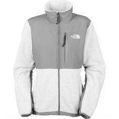 Super cute NorthFace jacket! Fleece jacket in white and silver... mac colors!