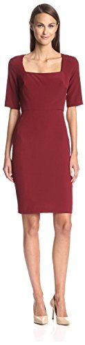 SOCIETY NEW YORK Womens Square Neck Dress Ruby 4 US -- Read more reviews of the product by visiting the link on the image.
