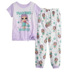 friends with these girls' top and bottoms pajama set. Carters Baby Clothes, Baby Boy Pajamas, Girls Pajamas, Baby & Toddler Clothing, Toddler Girl, Little Girl Outfits, Cute Outfits For Kids, Toddler Outfits, Baby Outfits