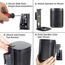 sonos one wall mountrf - Google Search Sonos One, Wall Mount, Toronto, Google Search, Wall Installation