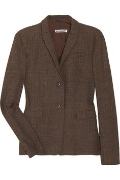 Jil Sander Wool tweed blazer -  THE OUTNET