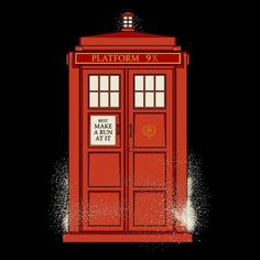 A Platform 9 3/4 TARDIS!! Best. Thing. Ever. I must own this t-shirt. #DoctorWho #HarryPotter #TARDIS