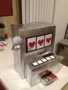 Slot Machine Valentine Box Jackpot BoxValentine IdeasRaffle IdeasCasino