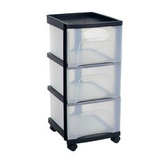 When you need quick and easy mobile storage this three drawer mobile storage cart is the perfect solution.